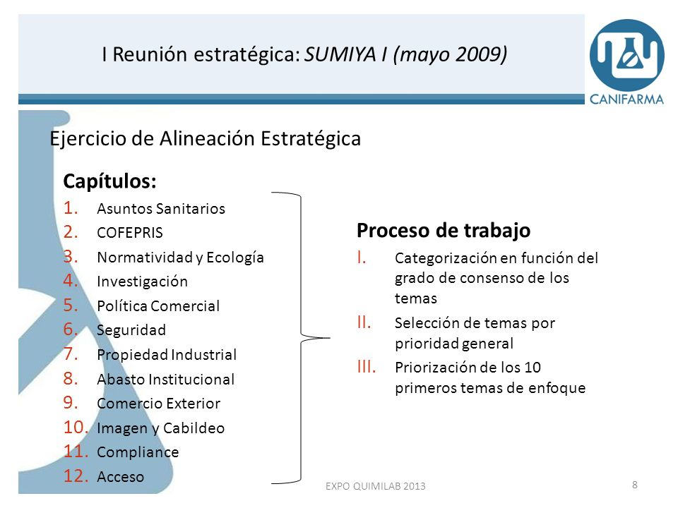 I Reunión estratégica: SUMIYA I (mayo 2009)