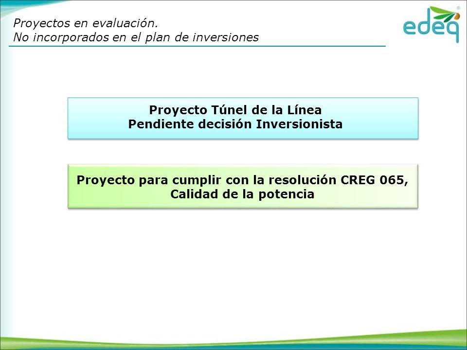 Proyecto Túnel de la Línea Pendiente decisión Inversionista