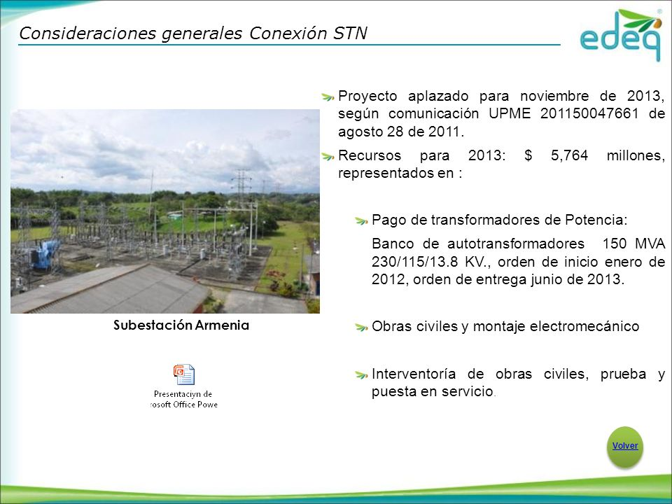Consideraciones generales Conexión STN
