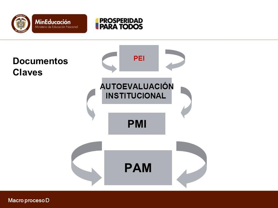 PAM PMI Documentos Claves AUTOEVALUACIÓN INSTITUCIONAL PEI