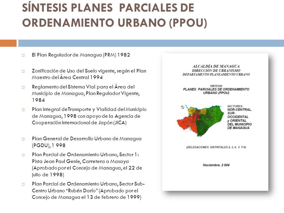 SÍNTESIS PLANES PARCIALES DE ORDENAMIENTO URBANO (PPOU)