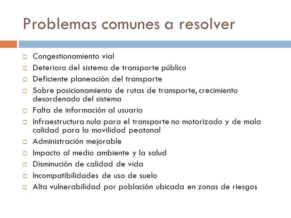 Problemas comunes a resolver