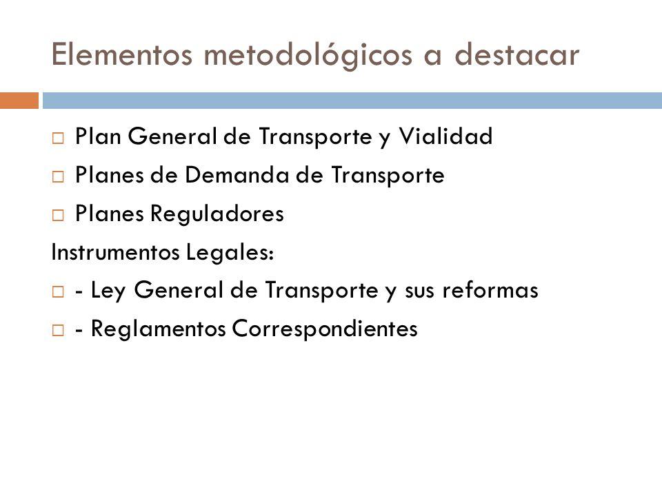 Elementos metodológicos a destacar
