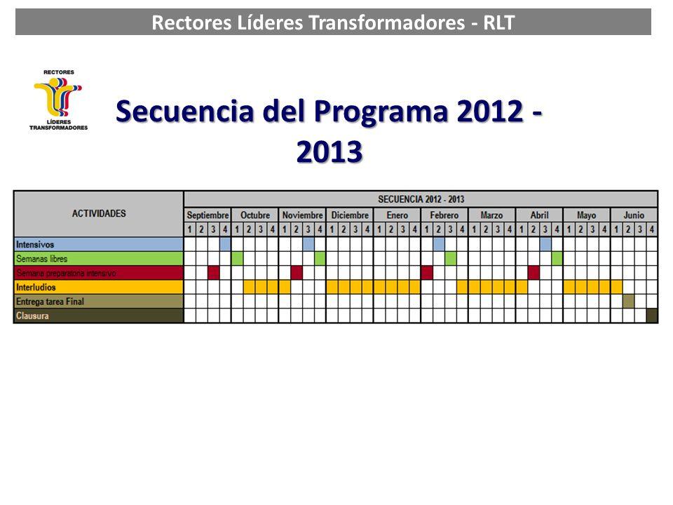 Secuencia del Programa 2012 - 2013