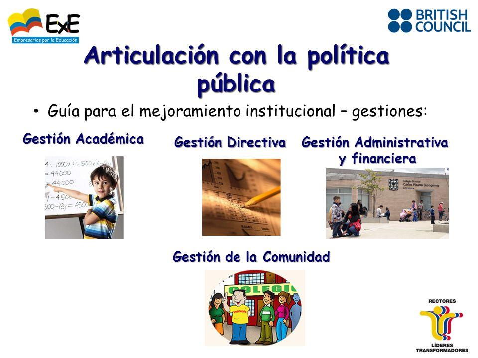 Articulación con la política pública