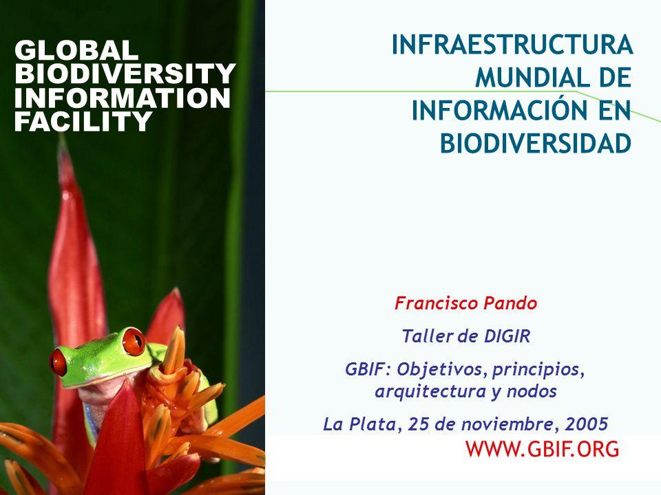 GBIF: Objetivos, principios, arquitectura y nodos