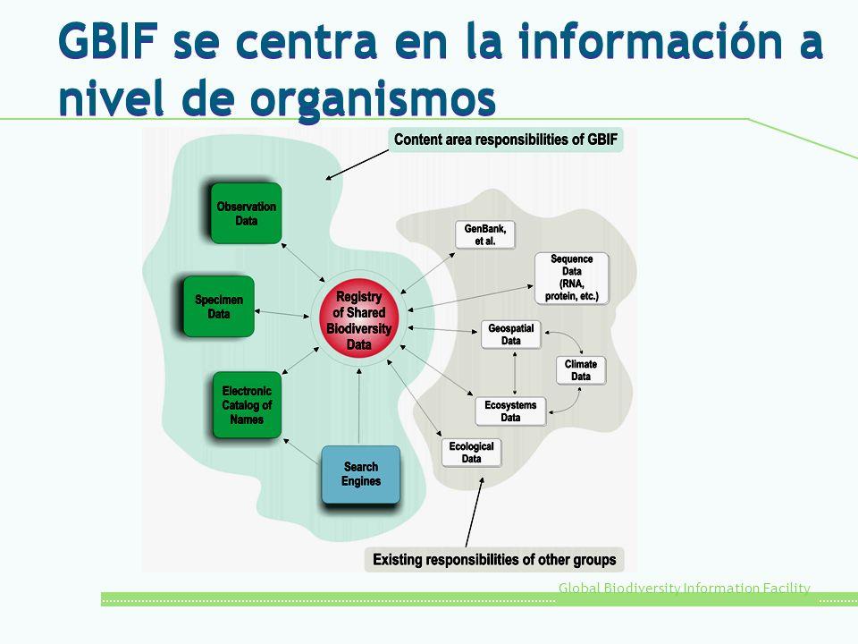 GBIF se centra en la información a nivel de organismos