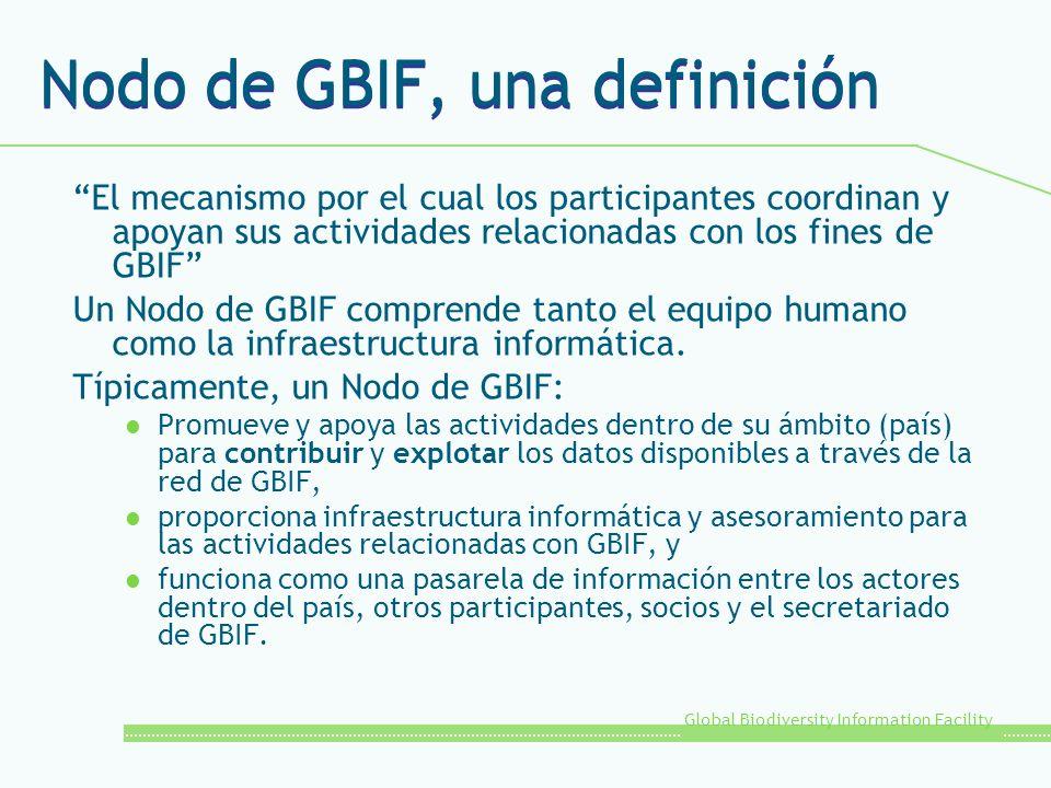 Nodo de GBIF, una definición