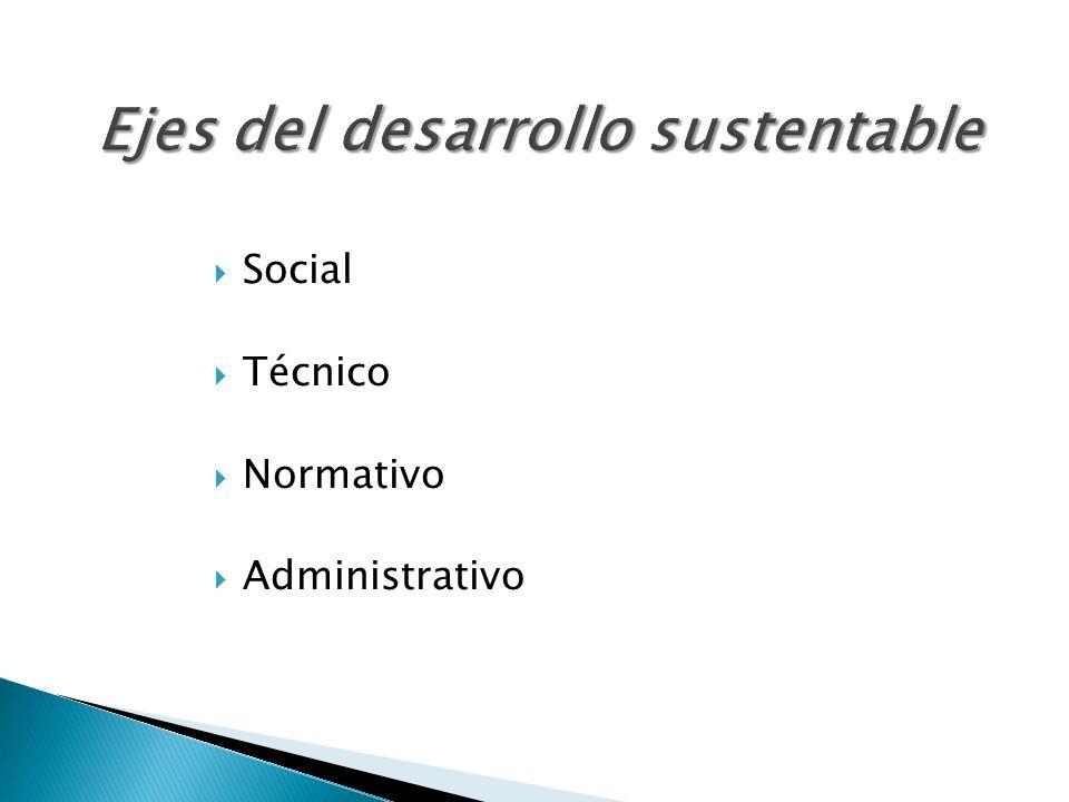 Ejes del desarrollo sustentable