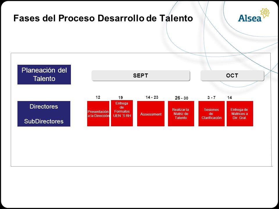 Fases del Proceso Desarrollo de Talento