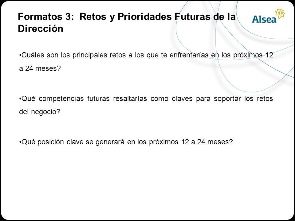 Formatos 3: Retos y Prioridades Futuras de la Dirección
