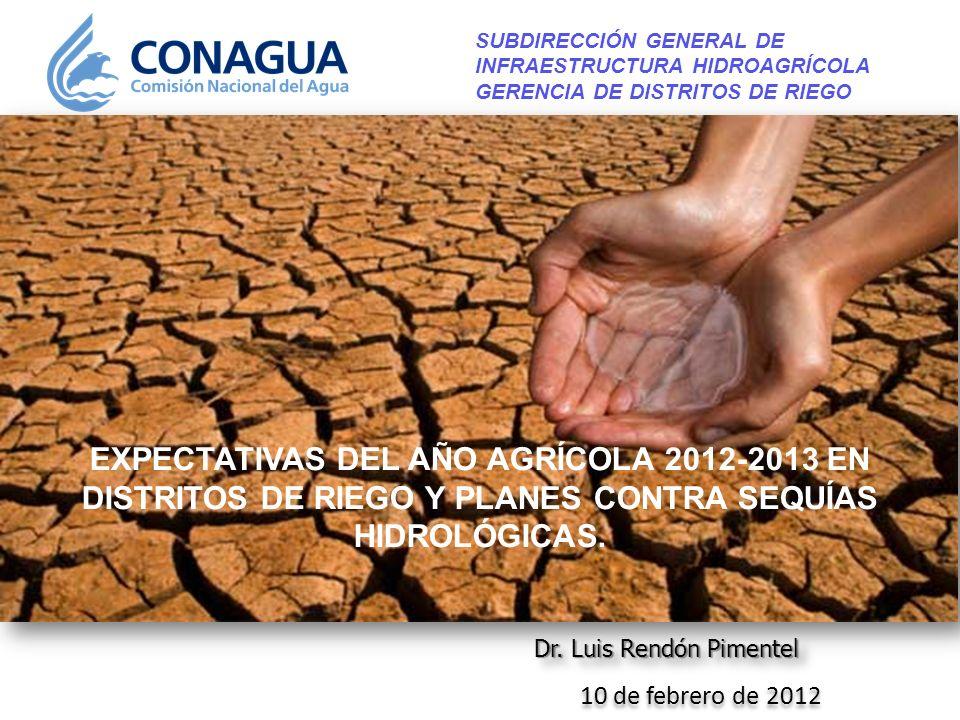 SUBDIRECCIÓN GENERAL DE INFRAESTRUCTURA HIDROAGRÍCOLA