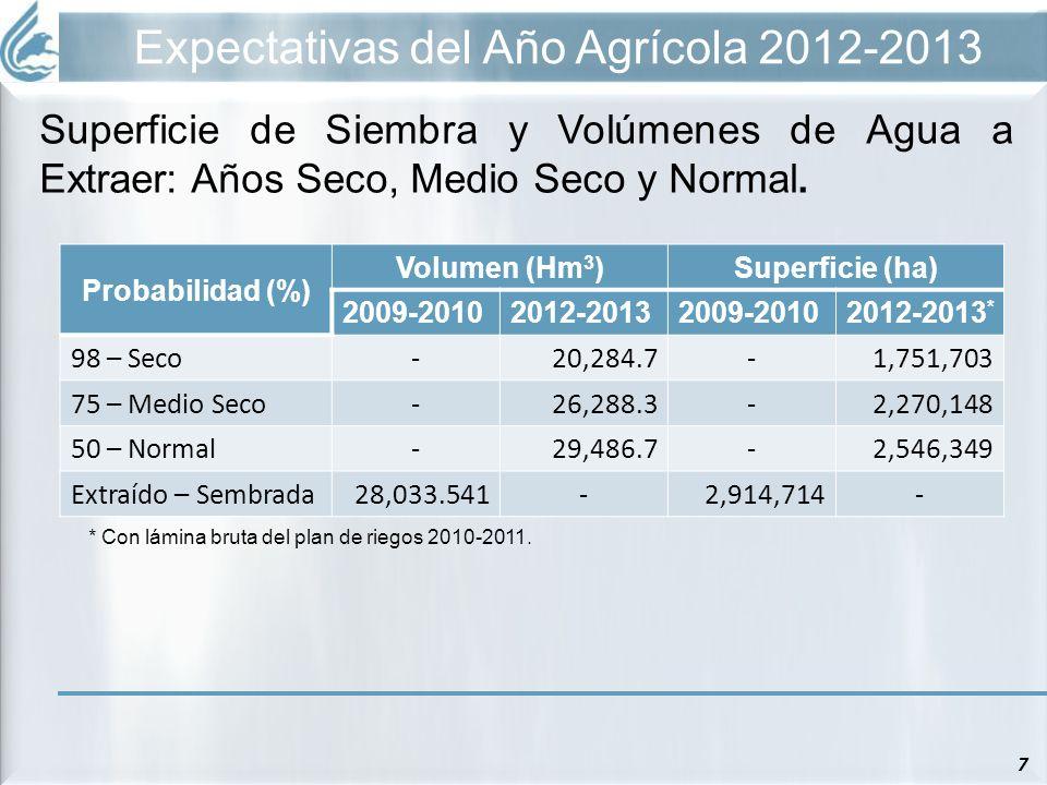 Expectativas del Año Agrícola 2012-2013