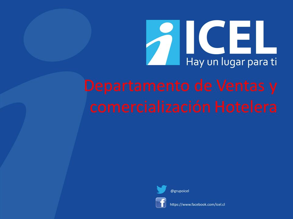 Departamento de Ventas y comercialización Hotelera