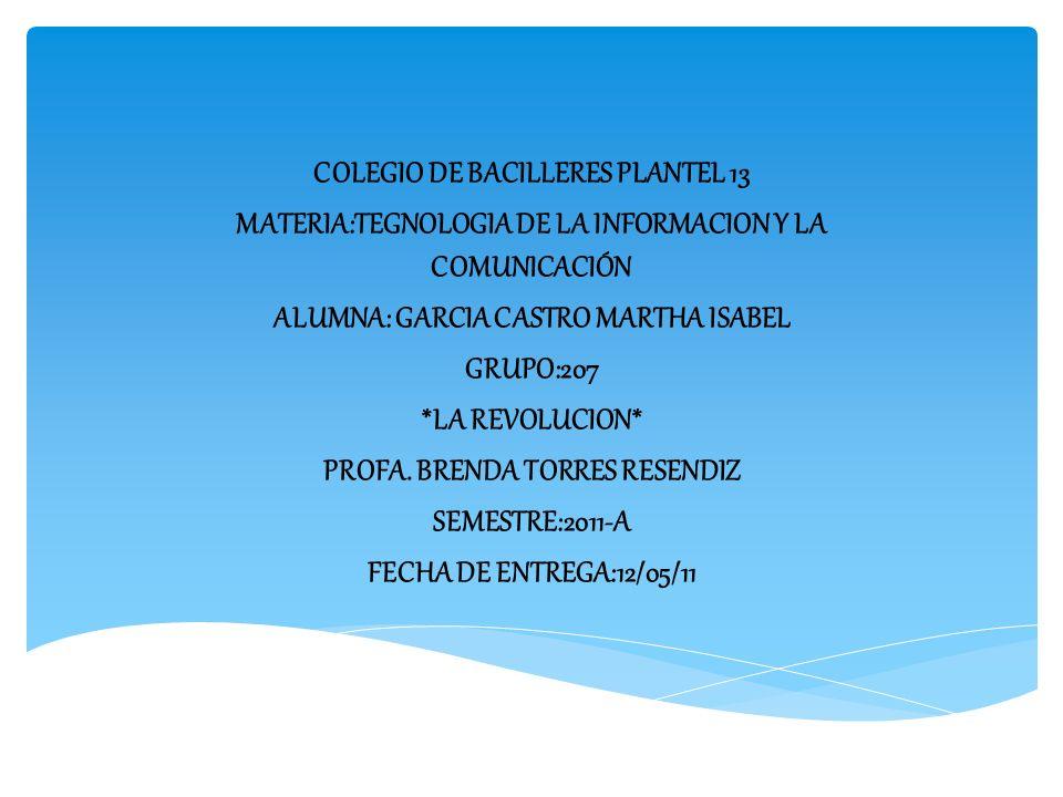 COLEGIO DE BACILLERES PLANTEL 13