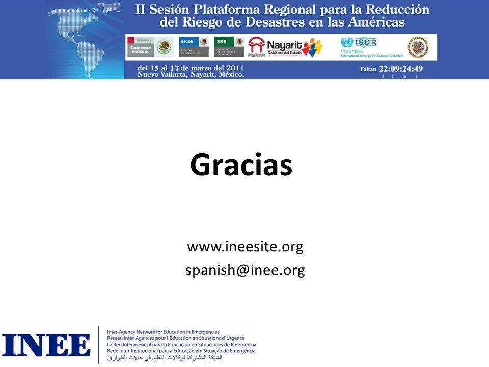 www.ineesite.org spanish@inee.org