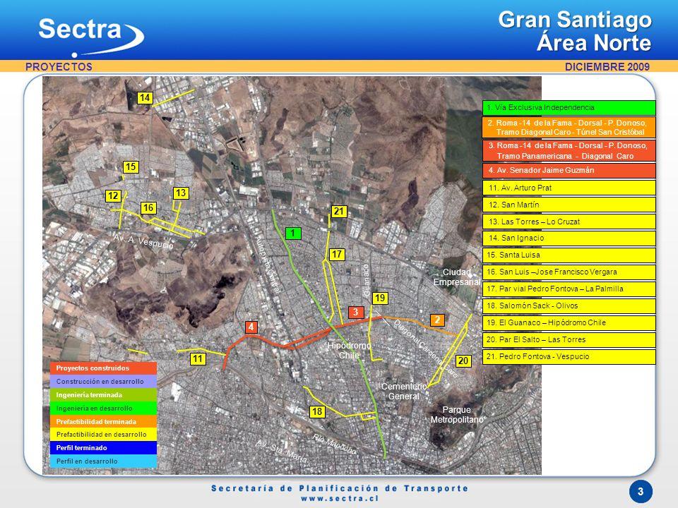 Gran Santiago Área Oriente PROYECTOS 26 22 25 24 23