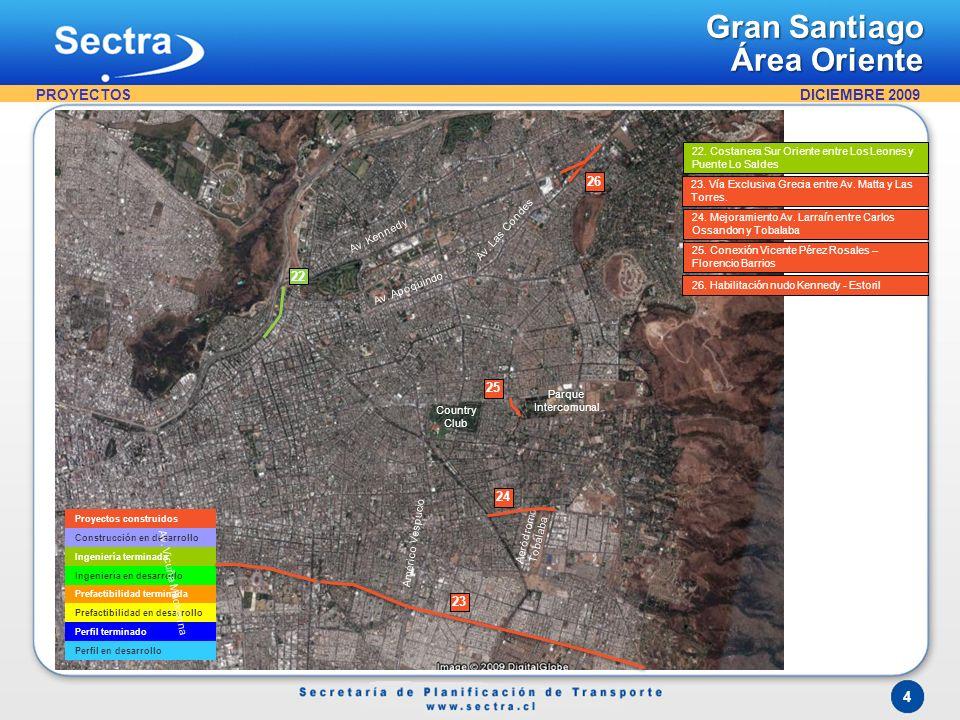 Gran Santiago Área Sur Oriente PROYECTOS 9 10 27 28 29
