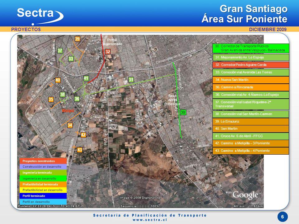 Gran Santiago Área Centro PROYECTOS 1 5 47 44 48 6 46 7 45 49 32 50 8