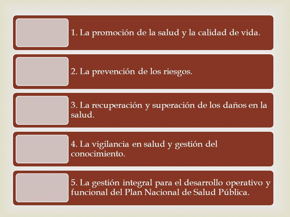 1. La promoción de la salud y la calidad de vida.