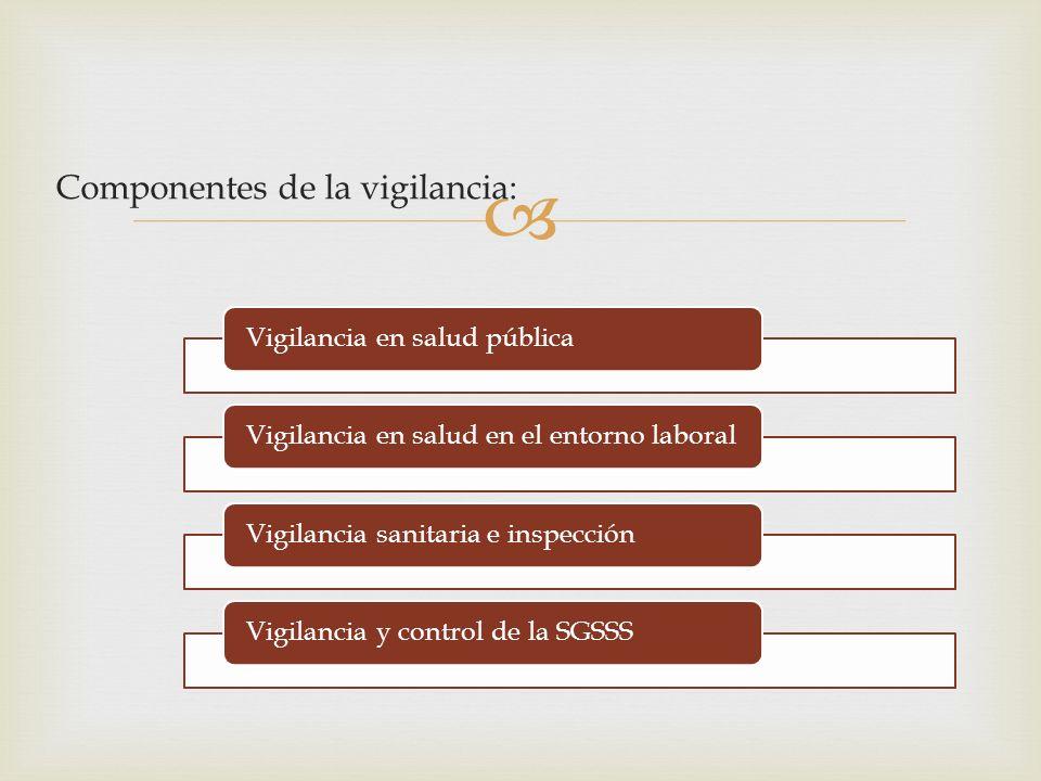 Componentes de la vigilancia: