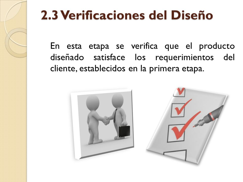 2.3 Verificaciones del Diseño