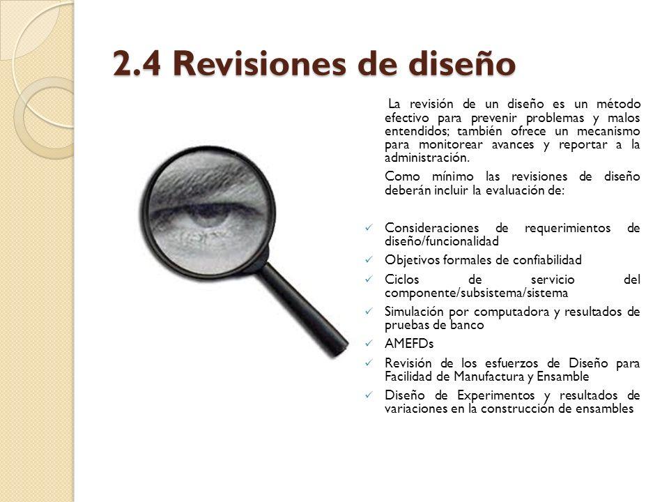 2.4 Revisiones de diseño
