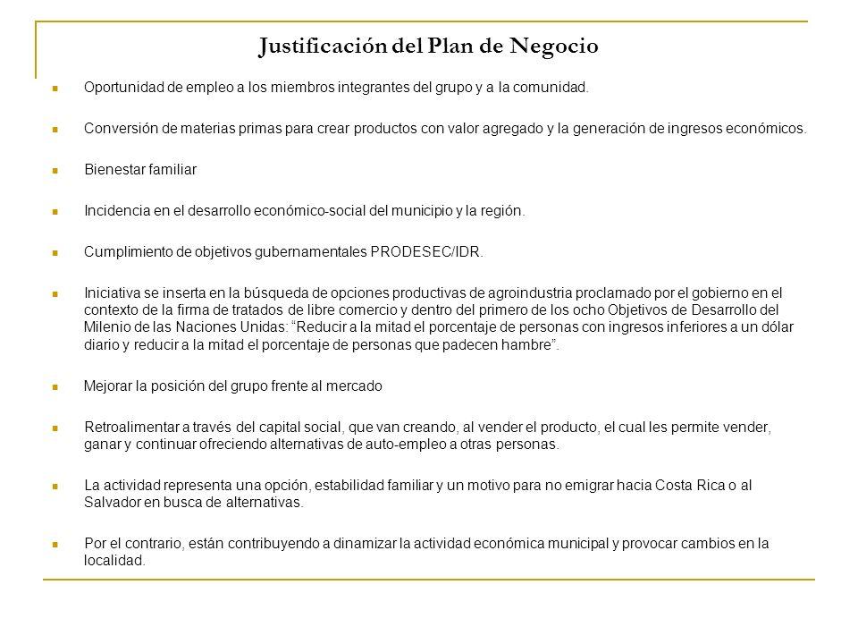Justificación del Plan de Negocio