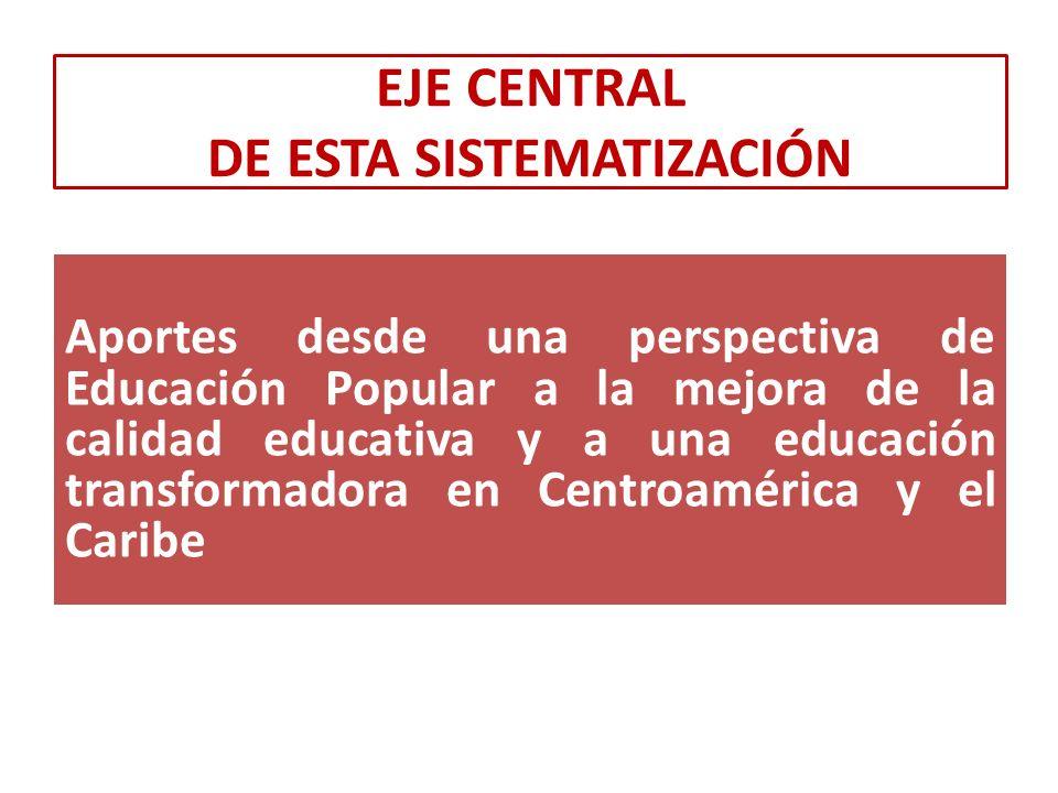 EJE CENTRAL DE ESTA SISTEMATIZACIÓN