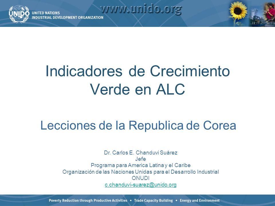Indicadores de Crecimiento Verde en ALC