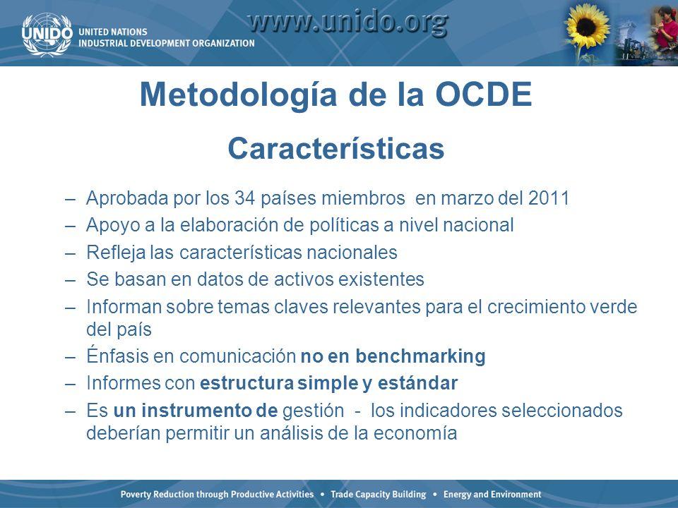 Metodología de la OCDE Características
