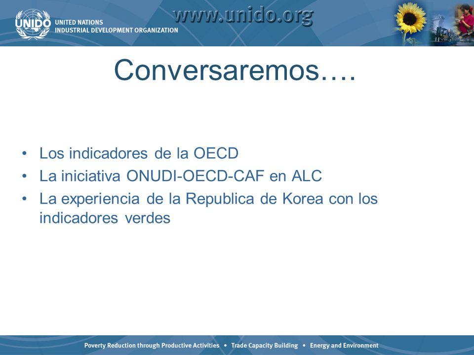 Conversaremos…. Los indicadores de la OECD