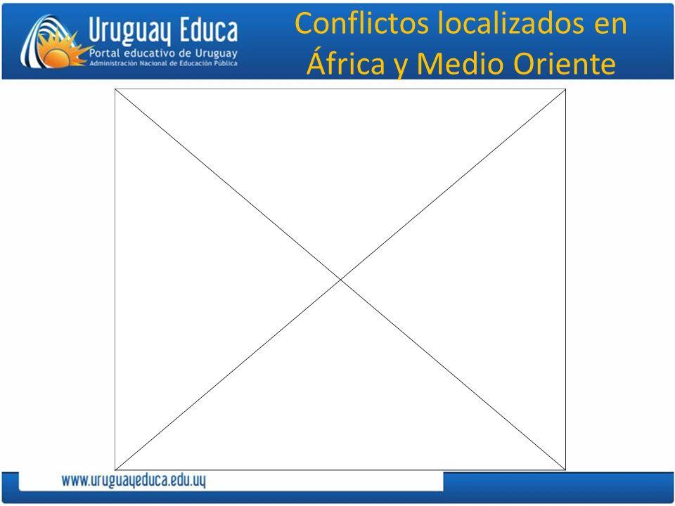 Conflictos localizados en África y Medio Oriente
