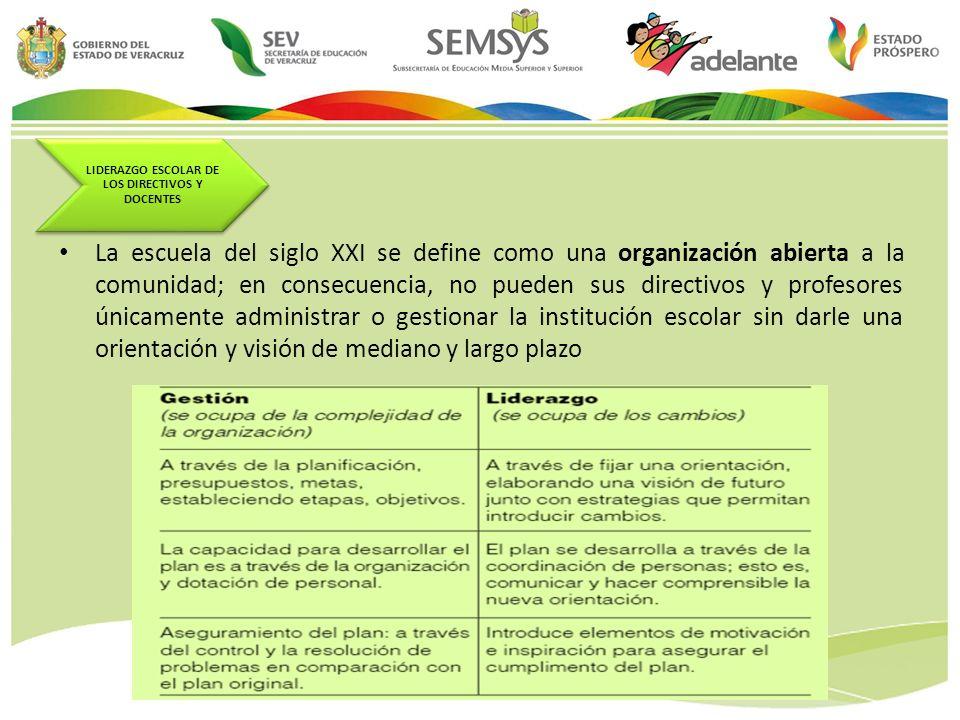 LIDERAZGO ESCOLAR DE LOS DIRECTIVOS Y DOCENTES