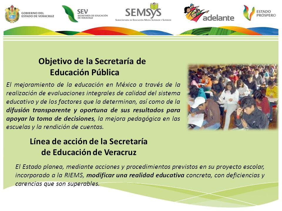Línea de acción de la Secretaría de Educación de Veracruz