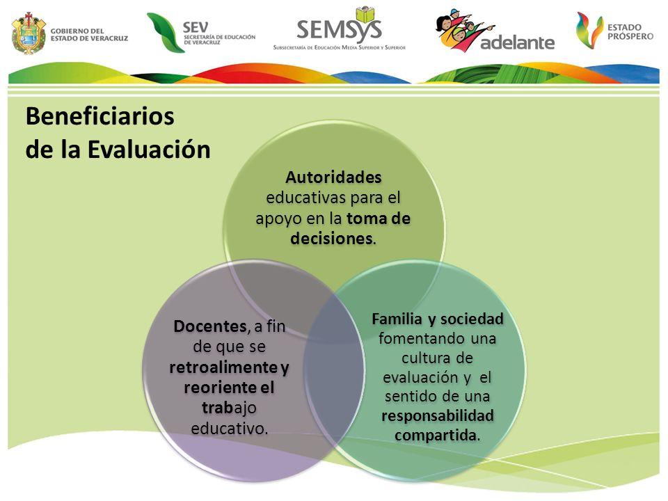 Beneficiarios de la Evaluación