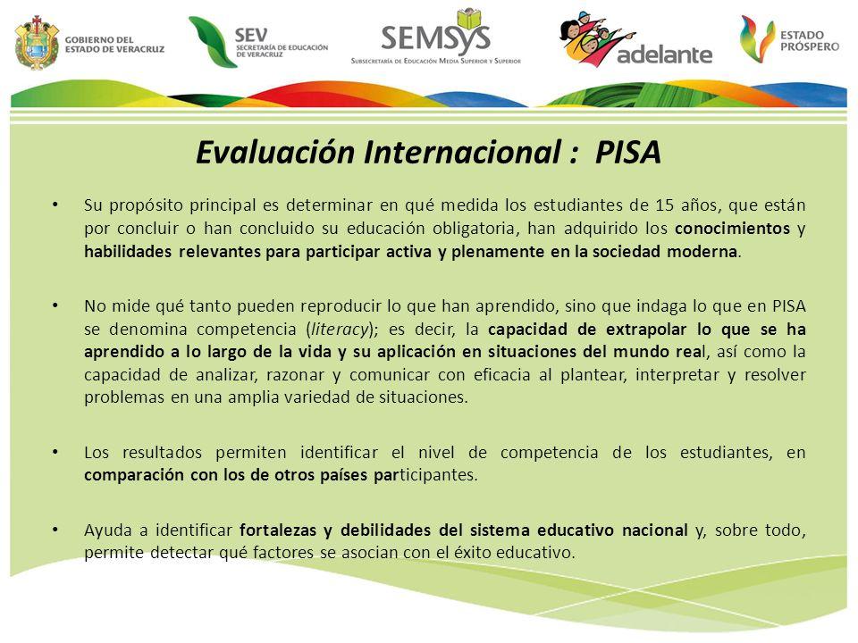 Evaluación Internacional : PISA