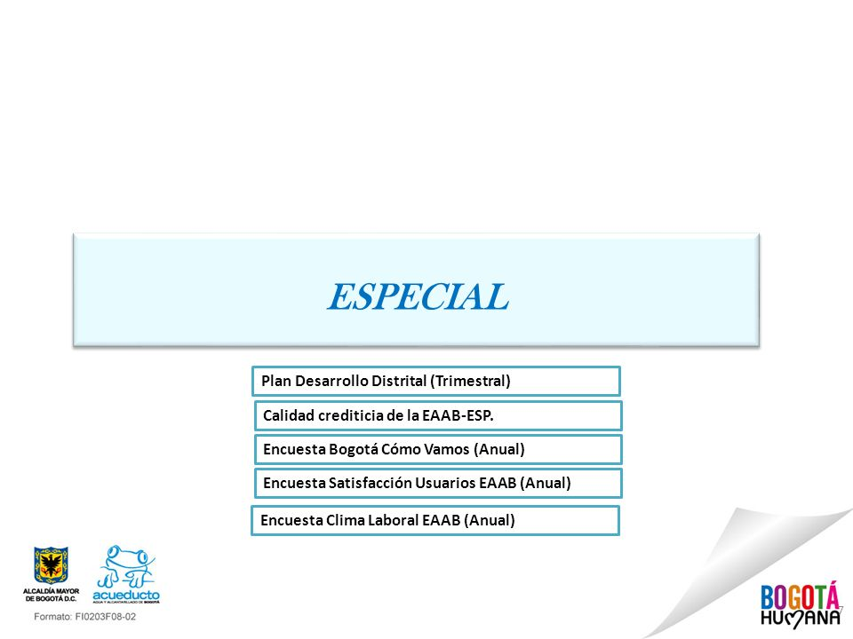 ESPECIAL Plan Desarrollo Distrital (Trimestral)