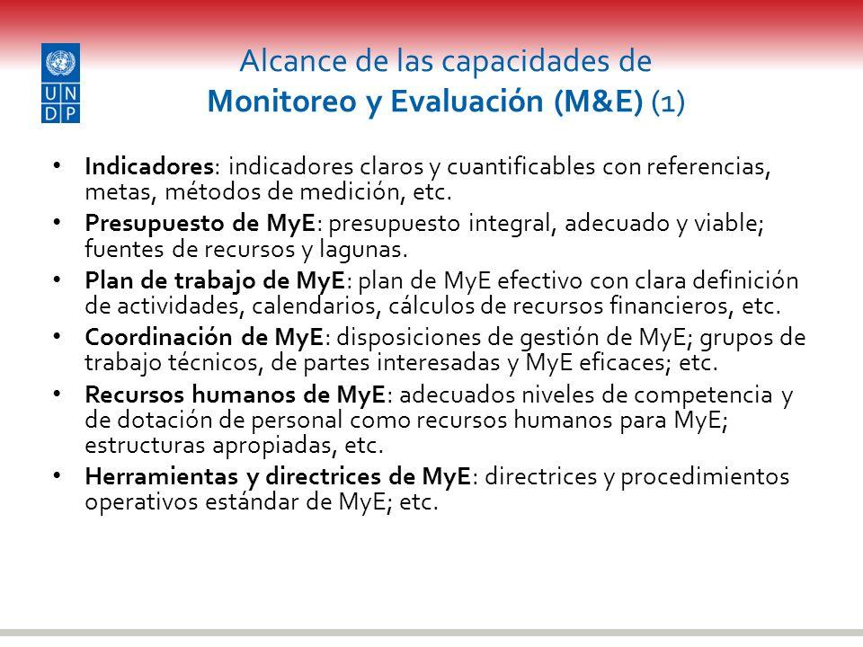 Alcance de las capacidades de Monitoreo y Evaluación (M&E) (1)