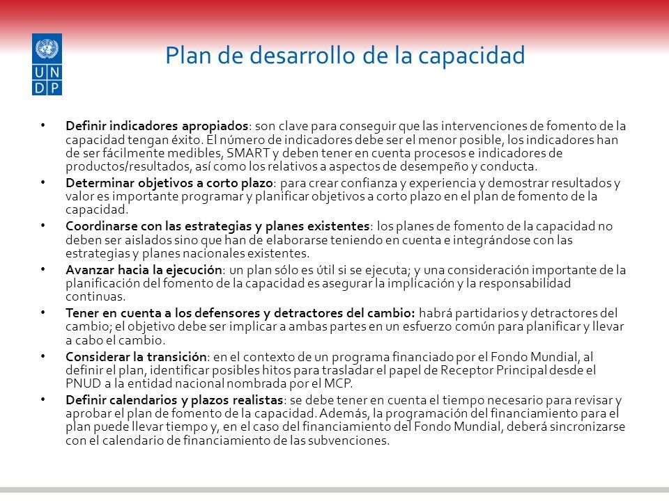 Plan de desarrollo de la capacidad