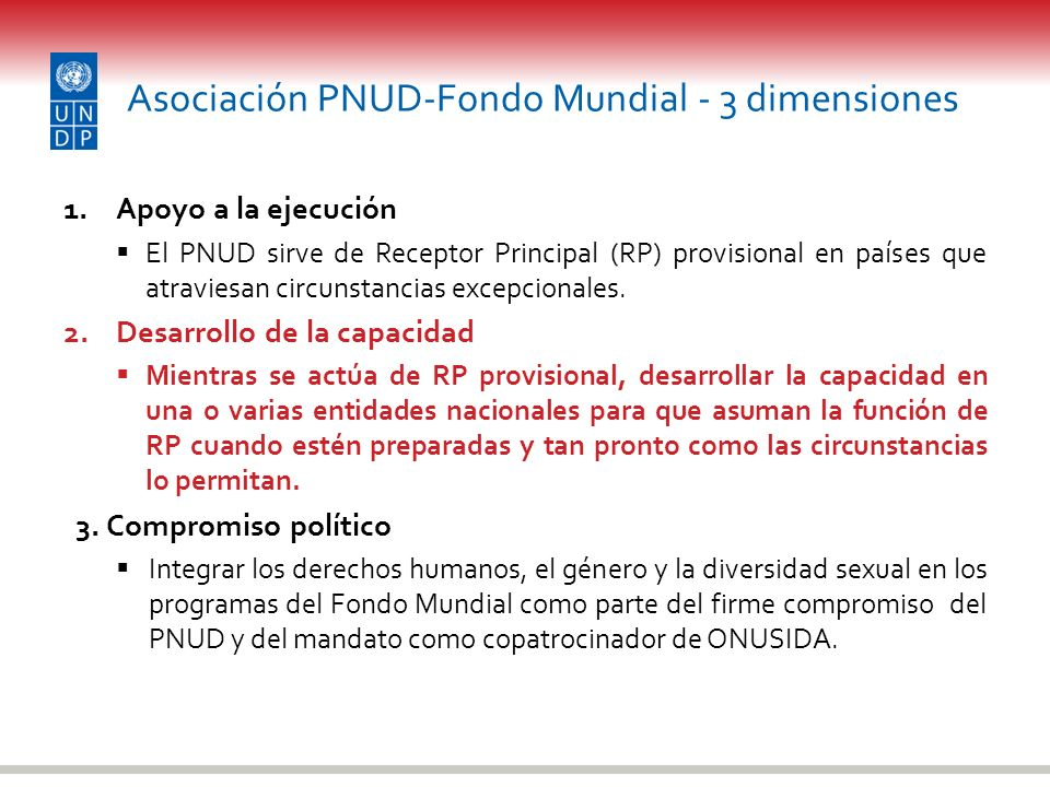 Asociación PNUD-Fondo Mundial - 3 dimensiones