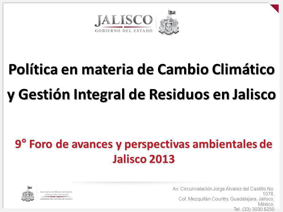 9° Foro de avances y perspectivas ambientales de Jalisco 2013