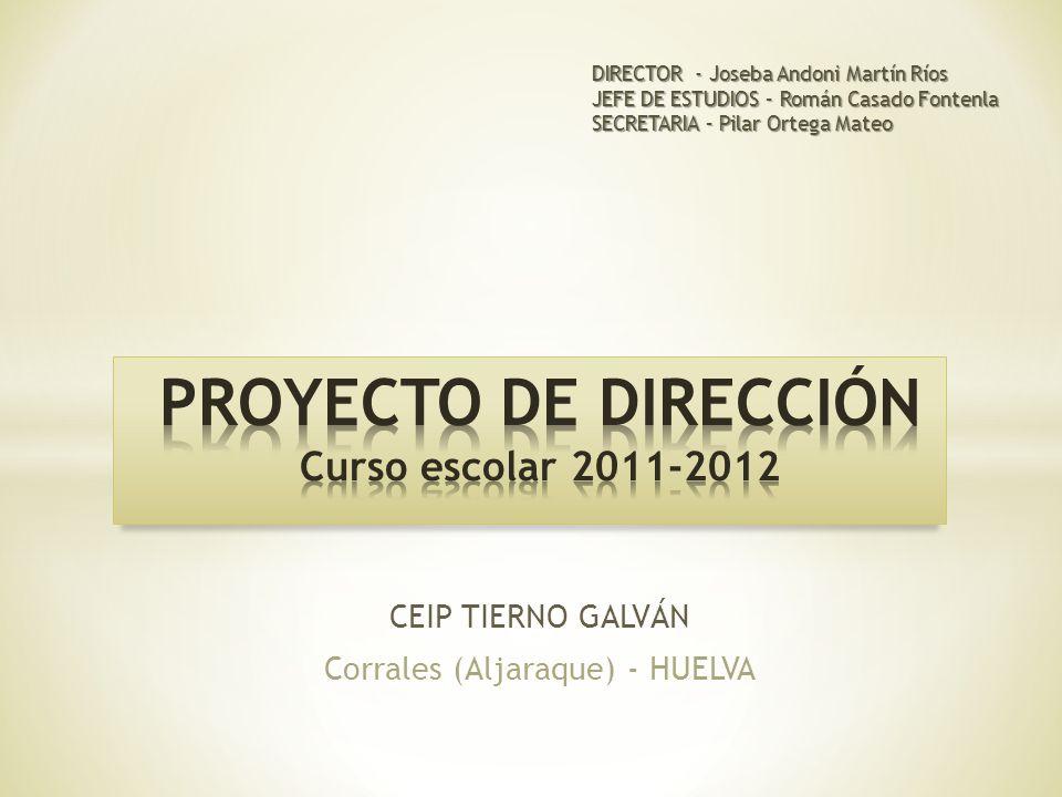 PROYECTO DE DIRECCIÓN Curso escolar 2011-2012
