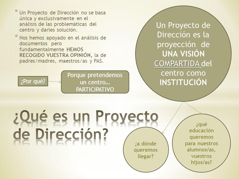 ¿Qué es un Proyecto de Dirección