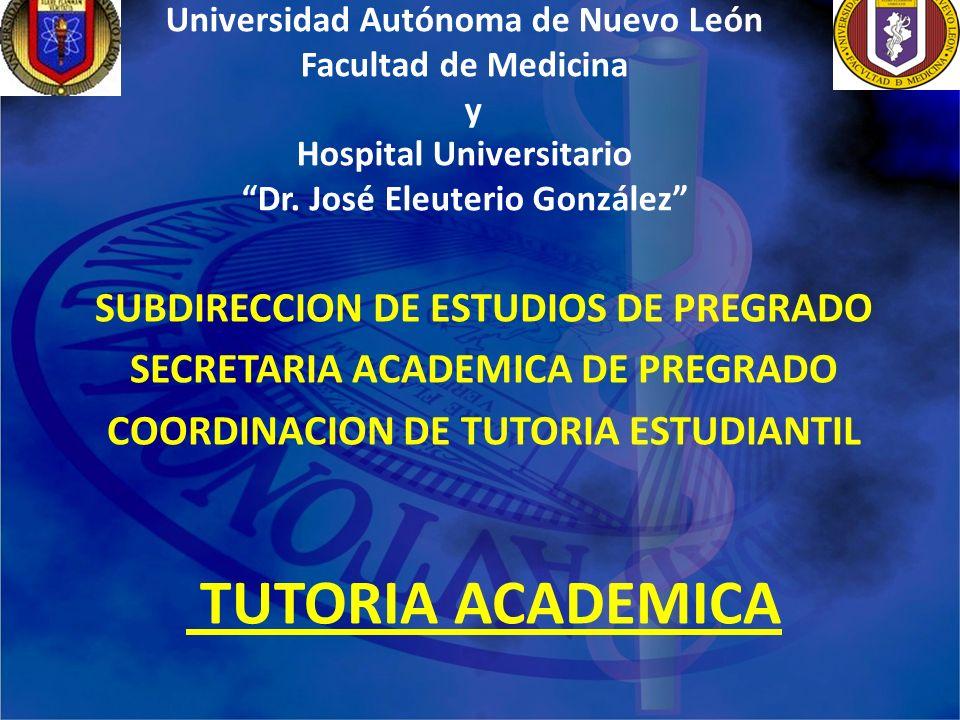TUTORIA ACADEMICA SUBDIRECCION DE ESTUDIOS DE PREGRADO