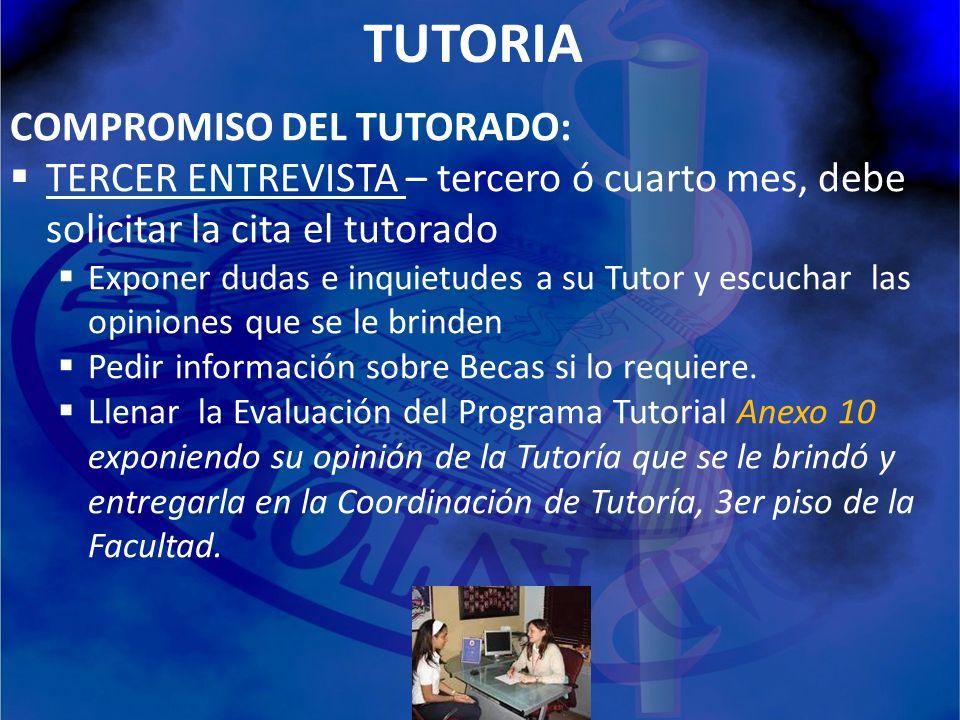 TUTORIA COMPROMISO DEL TUTORADO: