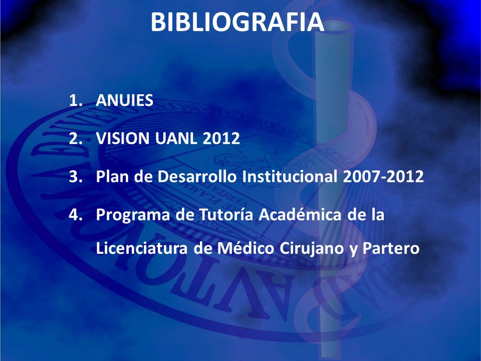 BIBLIOGRAFIA ANUIES VISION UANL 2012