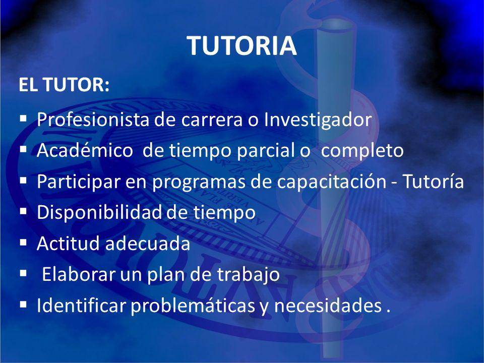 TUTORIA EL TUTOR: Profesionista de carrera o Investigador