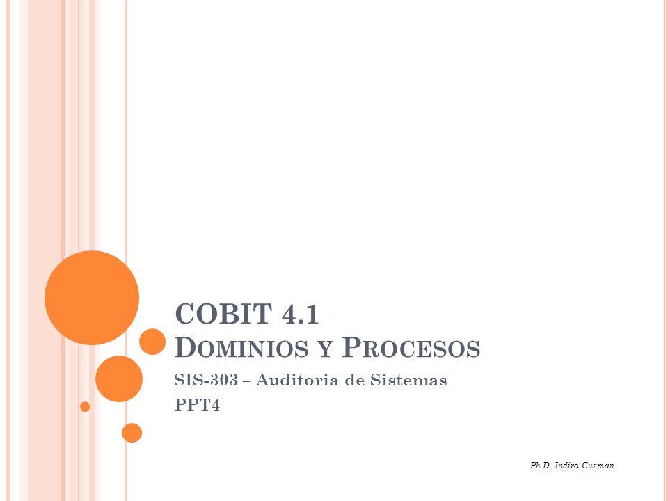 COBIT 4.1 Dominios y Procesos