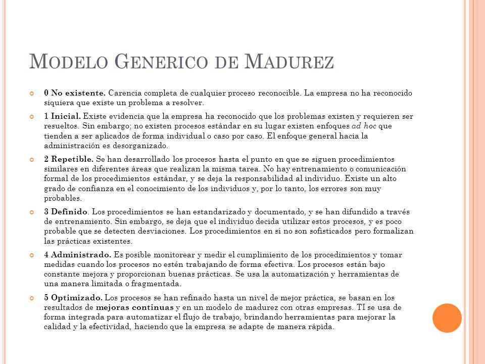 Modelo Generico de Madurez
